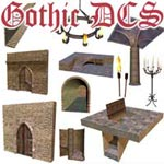 Dendras' Basic Gothic Dungeon Construction Set for ProPack