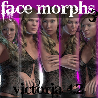 Farconville's Face Morphs for Victoria 4.2 Vol.3