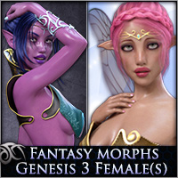 Fantasy Morphs: Heroes for Genesis 3 Females(s)
