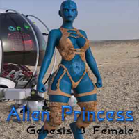 Alien Princess For Genesis 3 Female