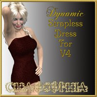 Dynamic Strapless Dress For V4