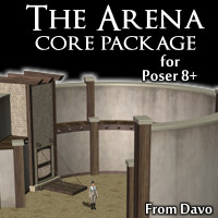 Arena Core Pack for Poser 8+