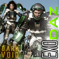 Dark Void Exo Suits And Docking Bay BUNDLE DS