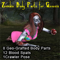 Zombie Body Parts for Genesis
