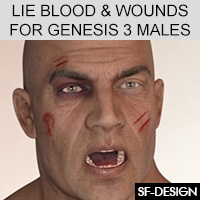 LIE Blood And Wounds For Genesis 3 Males