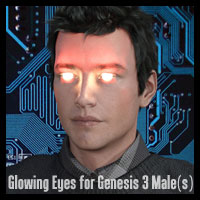 Glowing Eyes For Genesis 3 Male(s)