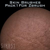 ArtDev Zbrush Assets - Custom Skin Brushes 1