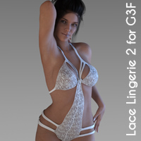 X-Lace Lingerie 02 For Genesis 3 Female(s)