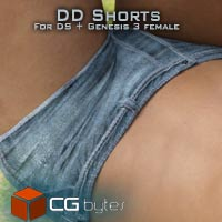 ArtDev Designer Denim Shorts For Genesis 3 Female