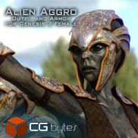ArtDev Alien Aggro Armor And Outfit For Alien Allure G3F