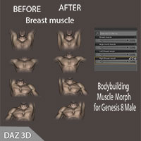 Muscle Morphs For G8Male