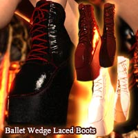 Ballet Wedge Laced Boots For G8F