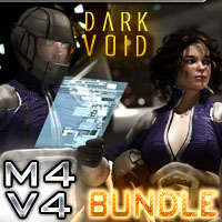 Dark Void ZX02 Suit For V4 And M4 Bundle