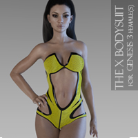 The X Bodysuit For Genesis 3 Female(s)