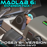 "Madlab 6 ""Expansion Pack 1"" For Poser 8+"