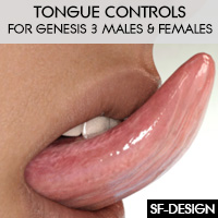 Tongue Controls For Genesis 3 Males And Females