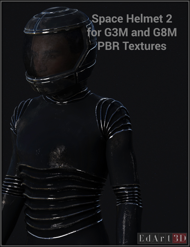Space Helmet Two For G3M & G8M PBR Textures
