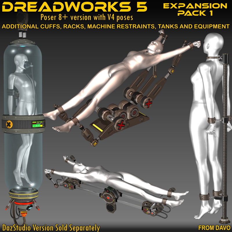 """Dreadworks 5"" Expansion Pack 1 For Poser 8+"