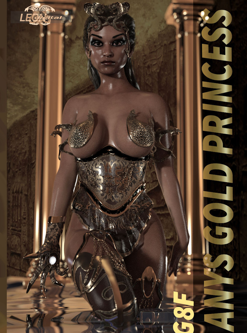 Anys Gold Princess Outfit