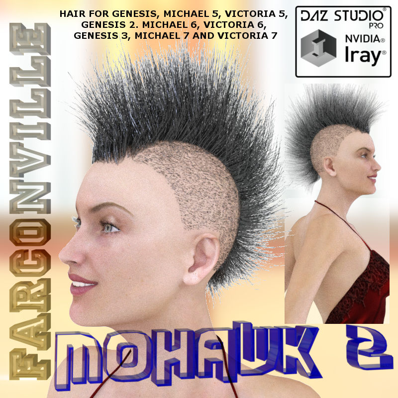 Mohawk 2 For Genesis, V5, M5, G2F, V6, G2M, M6, G3F, V7, G2M And M7