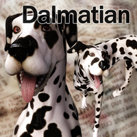 CL-Dalmatian For Poser 8 Dog