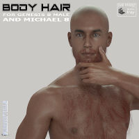 Body Hair For Genesis 8 Male And Michael 8