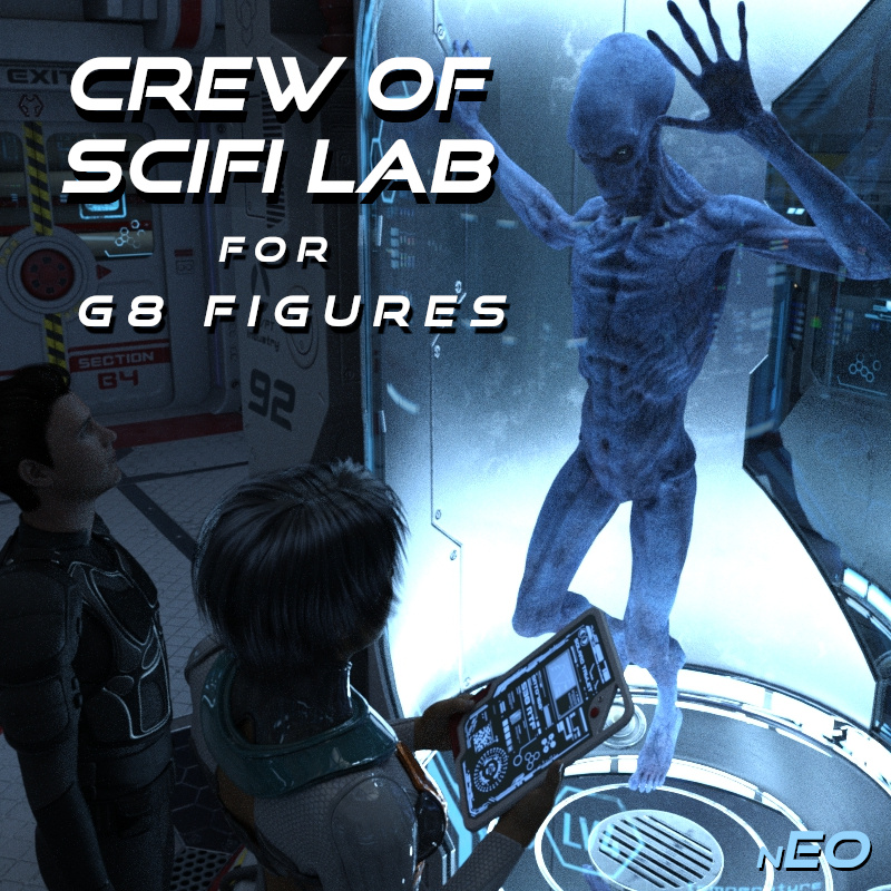 SciFi Lab And Prop Poses For G8F/M