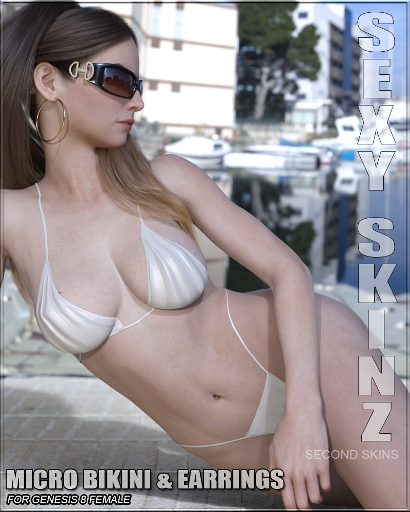 Sexy Skinz - Micro Bikini & Earrings