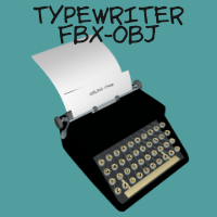 Old Typewriter FBX OBJ