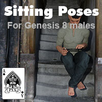 Sitting Poses For Genesis 8 Males