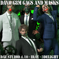 "Legacy Classic Davo ""Genesis 8 Male Gags And Masks"""