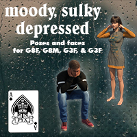 Moody Sulky Depressed Poses For G3  And G8
