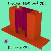 Theater Stage FBX And OBJ