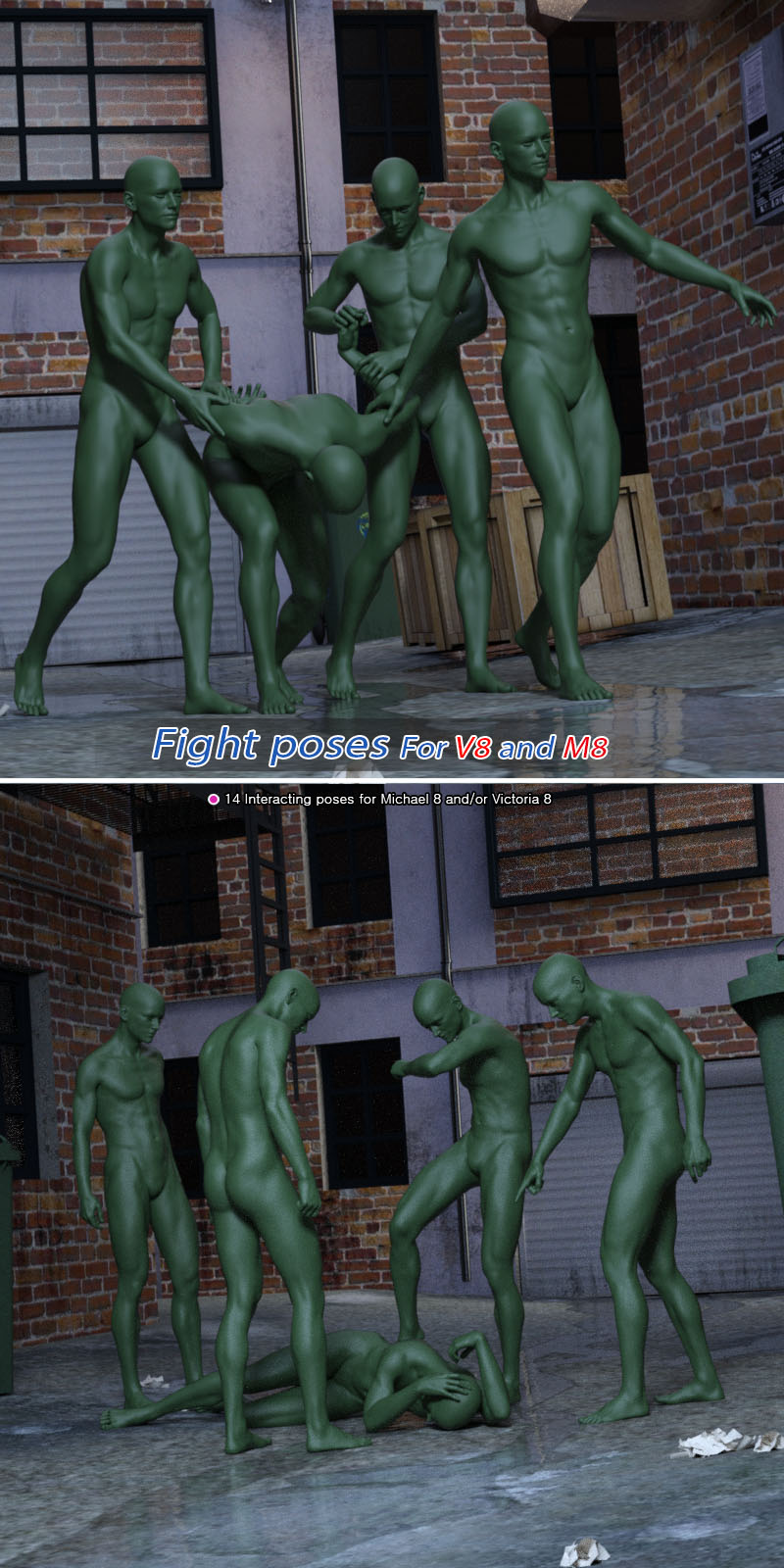 Fight Poses For Michael 8 And Victoria 8