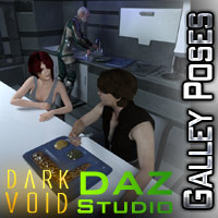 Dark Void Galley Poses For G3M And G3F Daz Studio