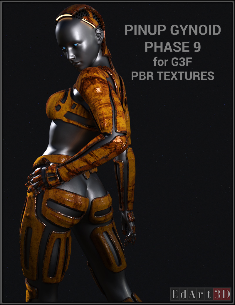 Pin-Up Gynoid Phase 9 For G3F PBR Textures
