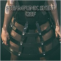 Steampunk Skirt G8F