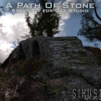 """A Path Of Stone"" Scene Kit For Daz Studio"