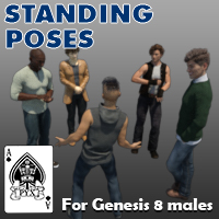 Standing Poses For Genesis 8 Males