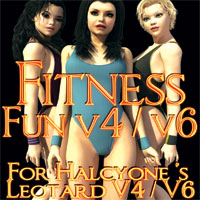 Fitness Fun for Halcyone's Leotard V4 V6