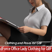 dForce Office Lady Clothing & Poses For Genesis 8 Female