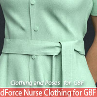 dForce Nurse Clothing And Poses For G8F