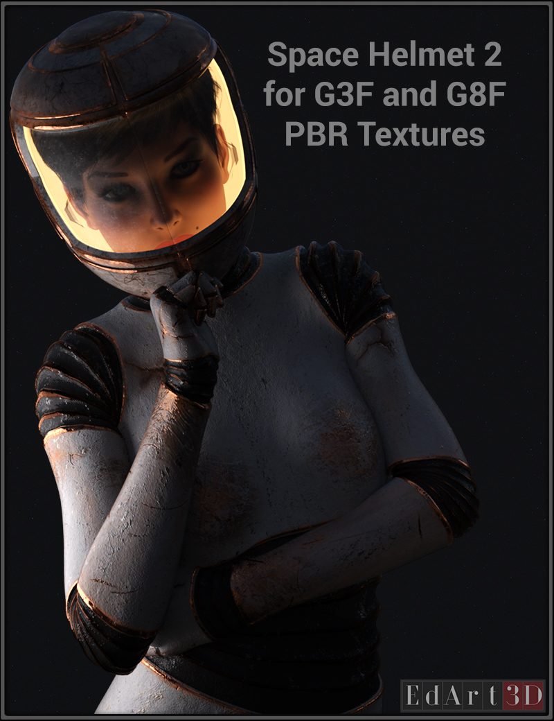Space Helmet Two For G3F & G8F PBR Textures
