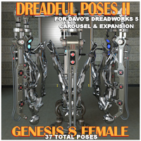 Dreadful Poses For Dreadworks 5 Carousel And Expansion 1 Packs Daz Studio 4.8+