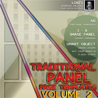 Loki's Traditional Comicbook Templates VOL 2