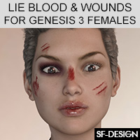 LIE Blood And Wounds For Genesis 3 Females