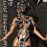 Cassinia Snake Goddess Outfit G8F