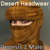 Desert Headwear For Genesis 3 Male
