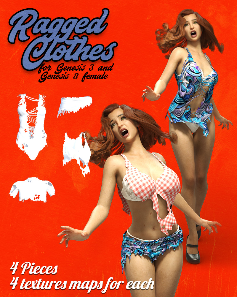 Ragged Clothes For G3F & G8F