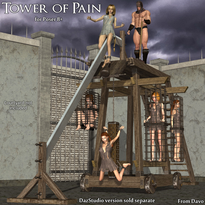 CGbytes - Store - Tower-Of-Pain-For-Poser-8-